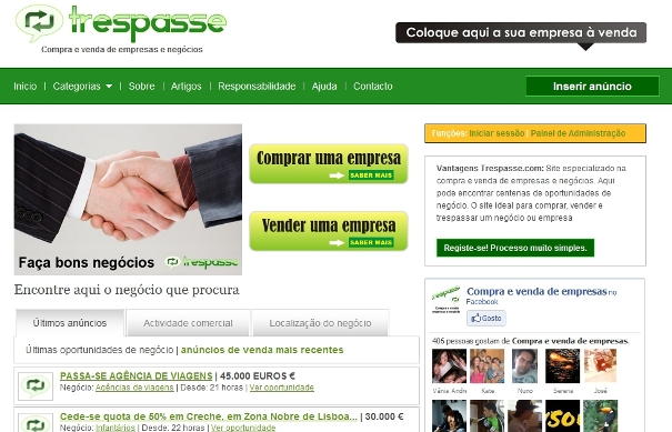 Sites para compra e venda de empresas