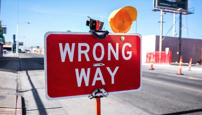caminho errado