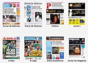 capas de jornais