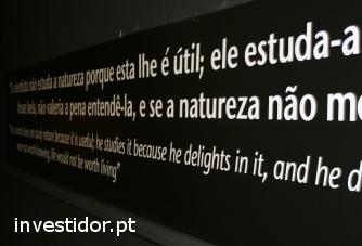 Palavras numa parede de forma artística